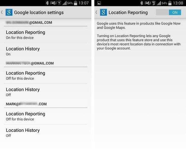 Google Location Reporting