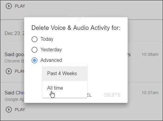 Google Voice History