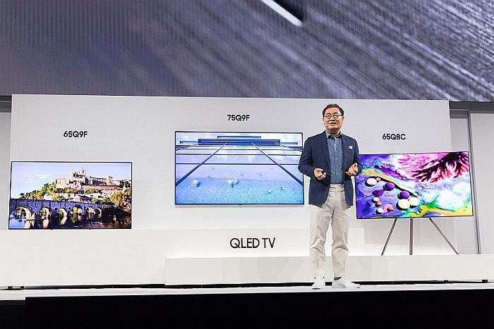 Jonghee Han, predsjednik odjela Visual Display, Samsung Electronics,predstavljajuci novu liniju QLED TV-a za 2018(2)