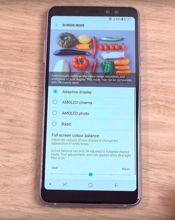 Samsung Galaxy A8 (2018) AMOLED zazlon
