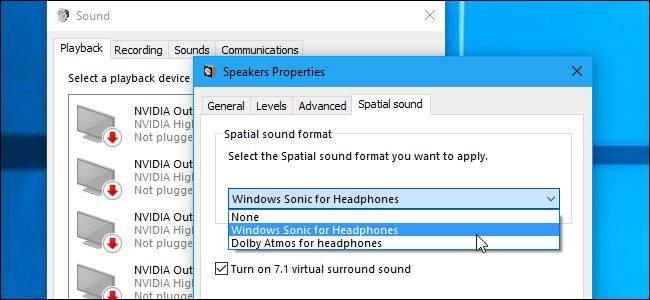 Windows Sonic Surround Stereo