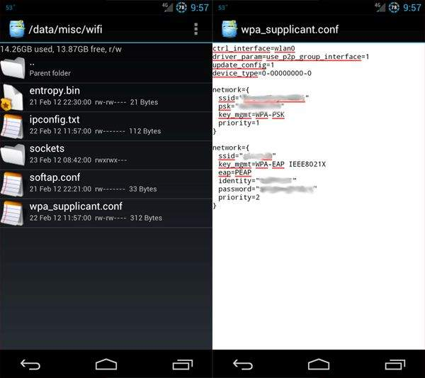 android root wpa_supplicant.conf