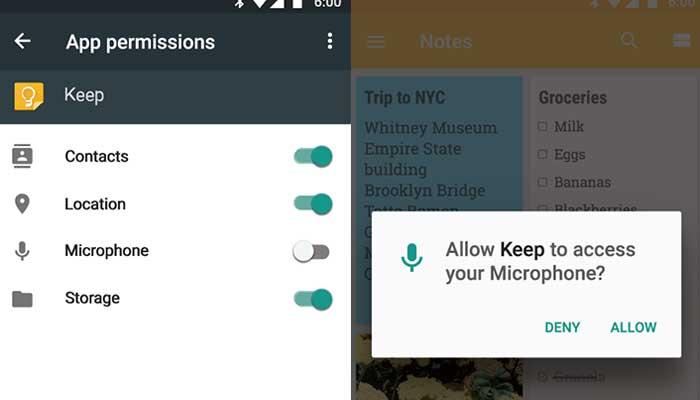 google dozvole za mikrofon