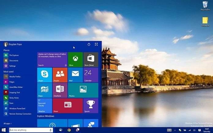 windows 10 start menu ne radi