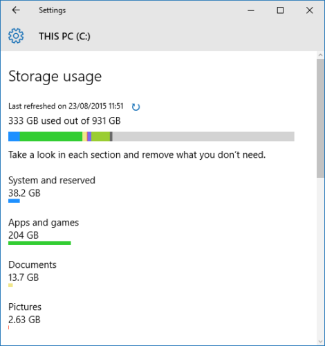 windows-10-storage-usage-space