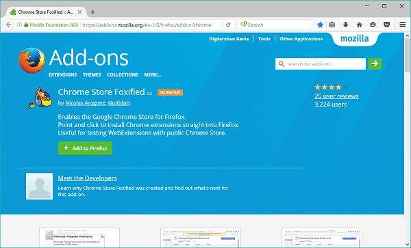Chrome Store Foxfied