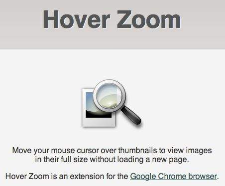 Hover Zoom
