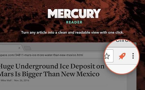 Mercury Reader ekstenzija