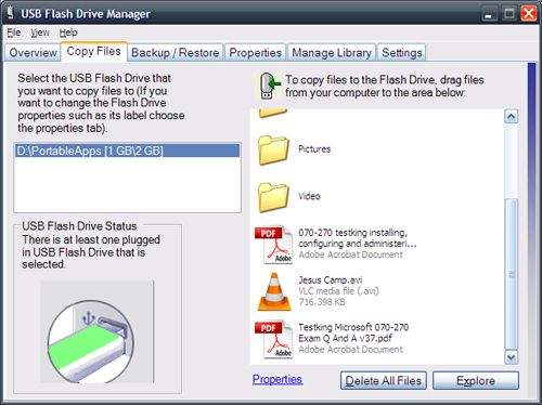 Microsoftov USB Flash Manager