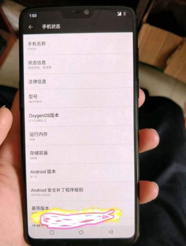 OnePlus 6 zaslon