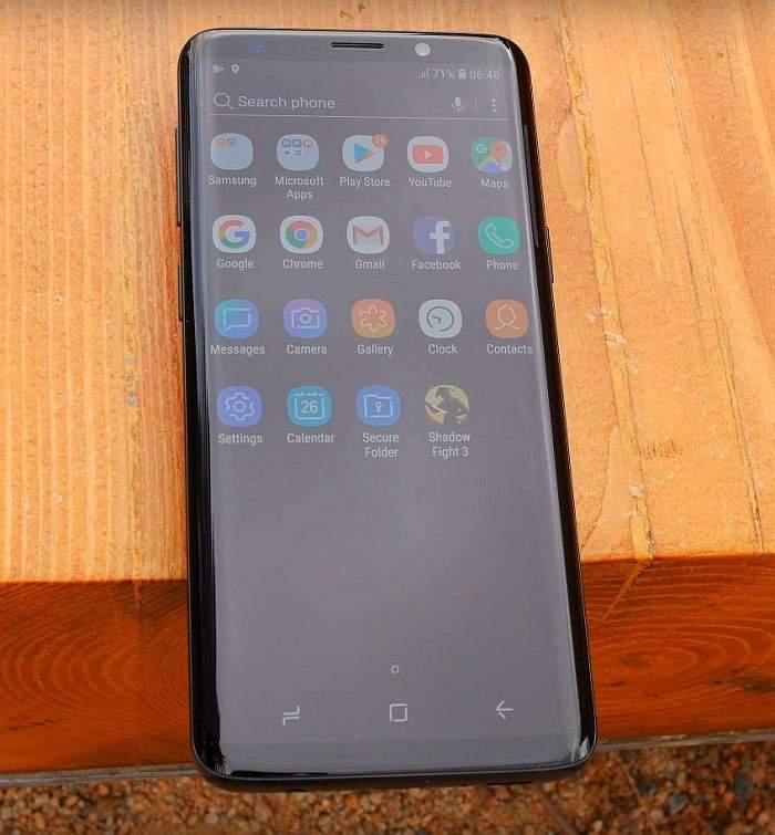 Samsung Galaxy S9 ekran