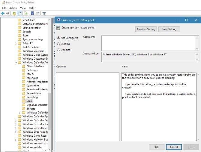 System Restore Points u windowsima