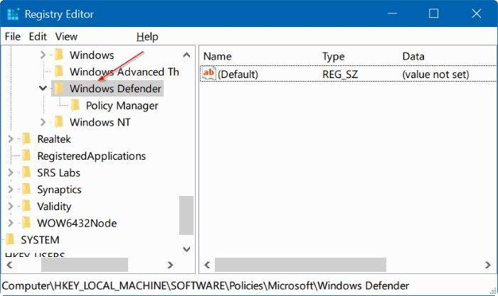 disable-Windows-defender-in-Windows-10