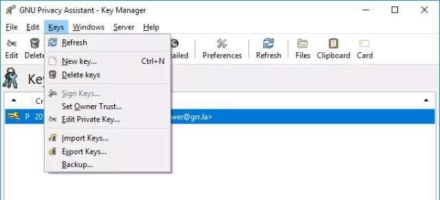 sigurnosni email kreiranje ključa
