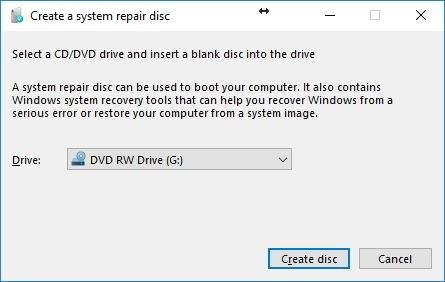 system repair disk