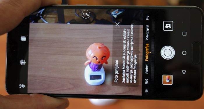 Huawei P20 kamera sučelje
