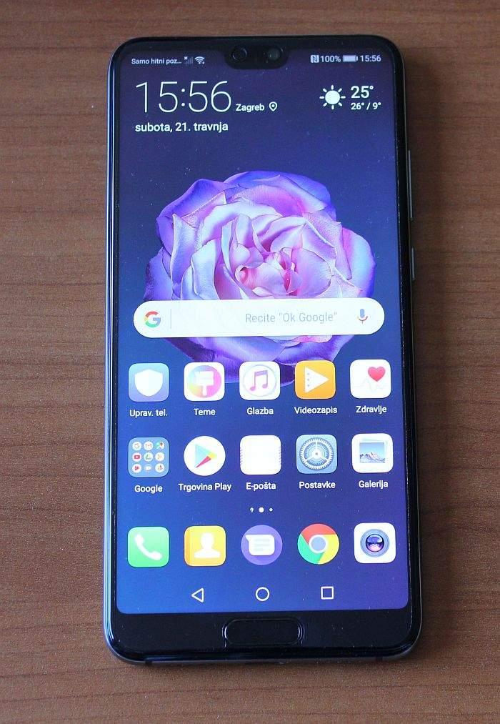 Huawei P20 zaslon