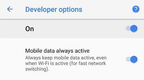 Mobile data always active