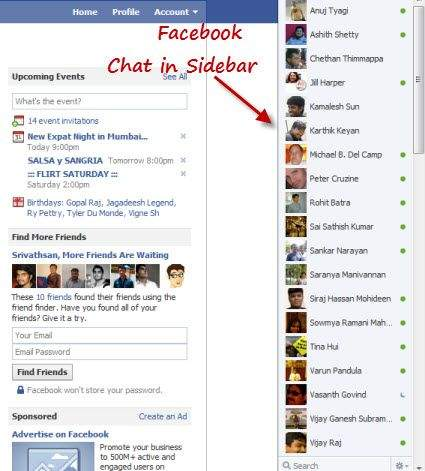 chat sidebar na facebooku