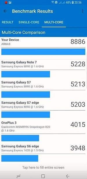 samsung galaxy s9+ benchmark