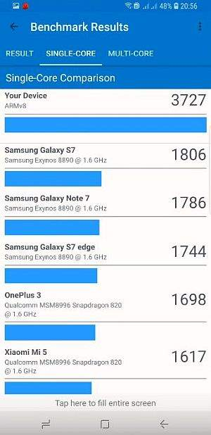 samsung galaxy s9+ geekbench