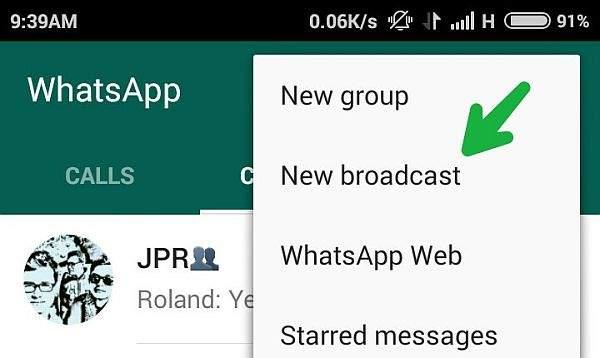 whatsapp broadcast poruke