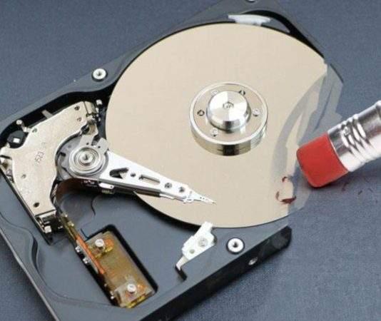 erase disk