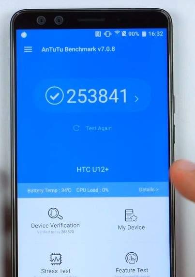 htc u12+ benchmark