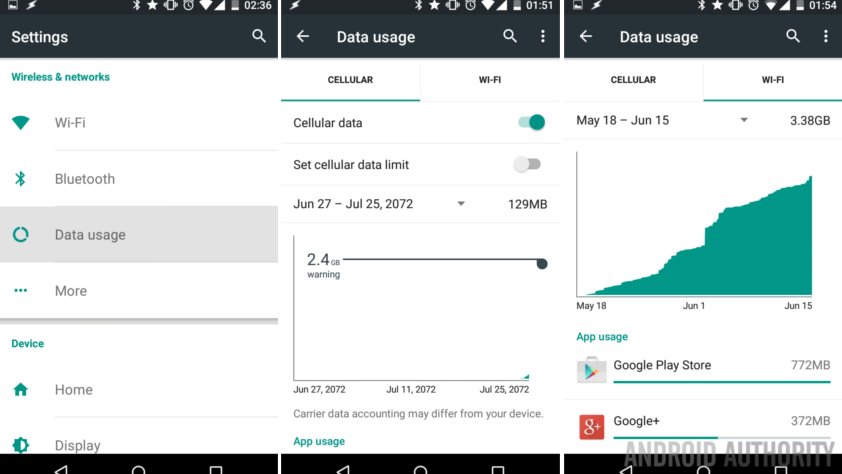 Android-Data-usage-settings