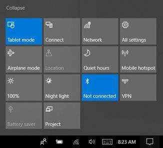 tablet mode u windows 10