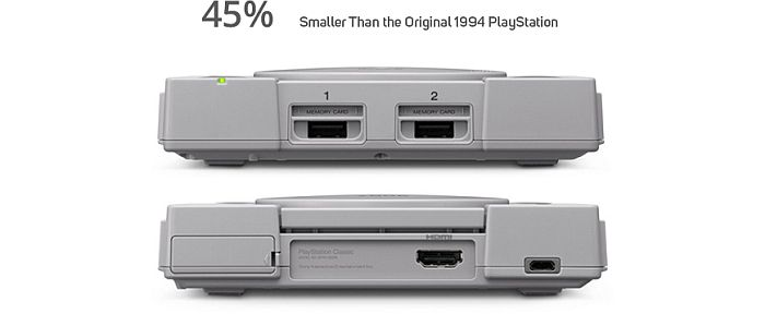 Playstation Classic stražnja strana