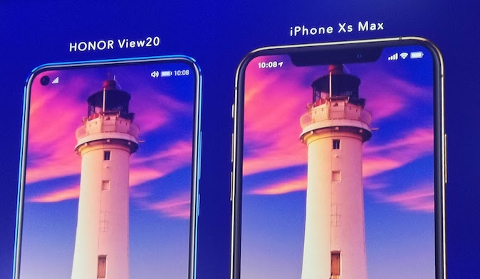 HONOR View20 vs iPhone Xs Max