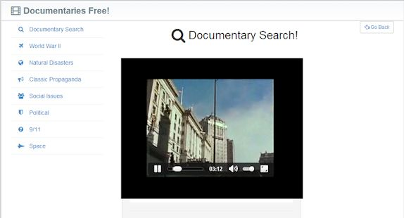 Documentaries app