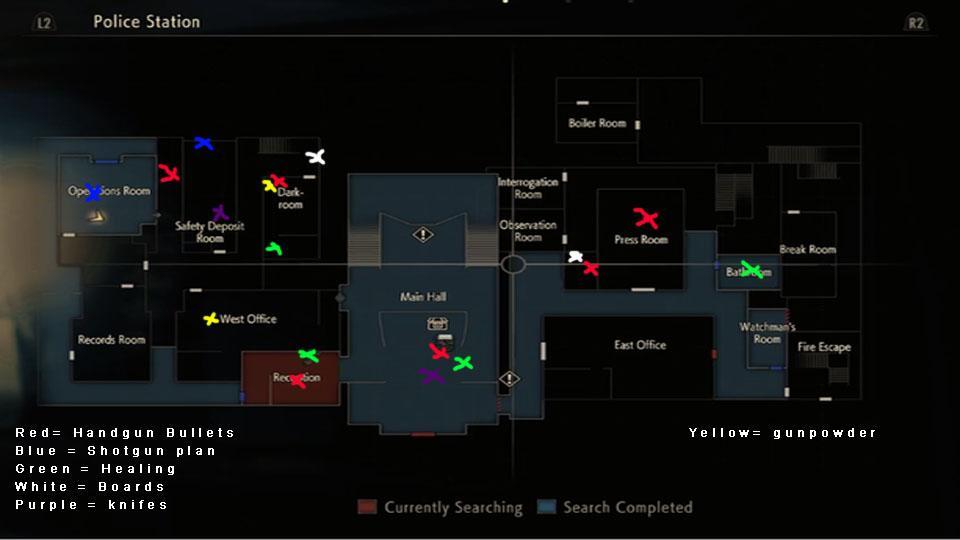 Resident Evil 2 Remake mapa