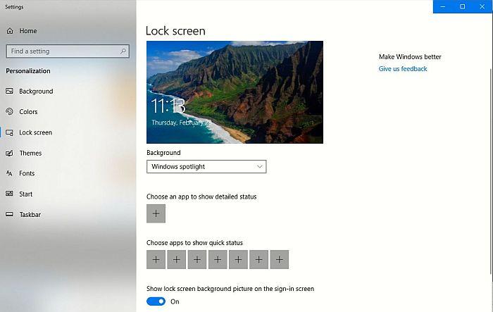 windows 10 lock screen off