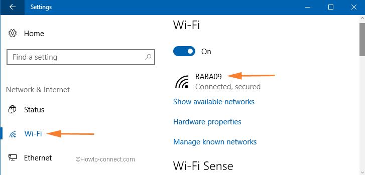 windows 10 wifi settings