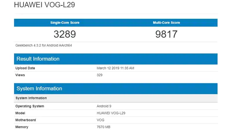 Huawei P30 Pro benchmark