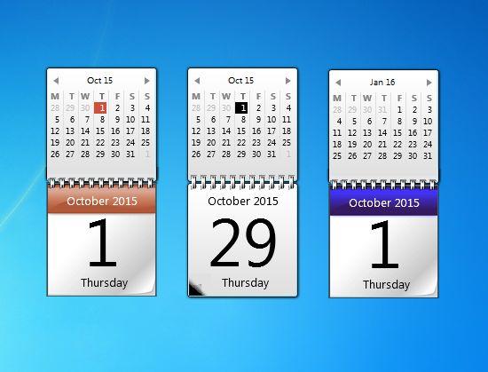 windows 7 kalendar