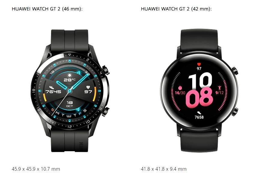 huawei watch gt 2 dolazi u dvije dimenzije