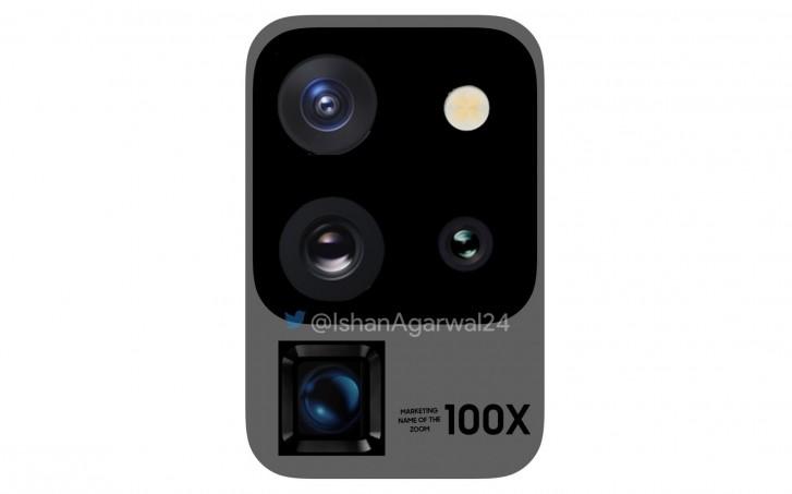 Samsung Galaxy S20 kamera s 100x zoom-om