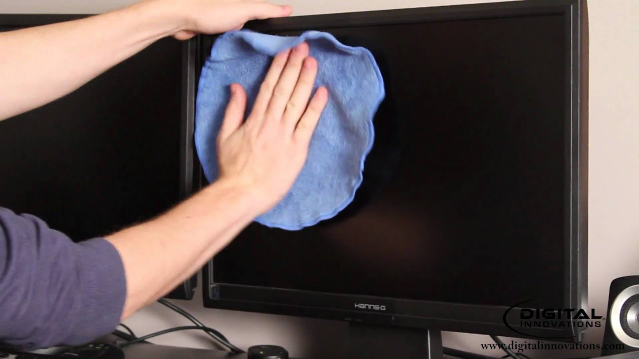 brisanje monitora krpom