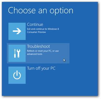 windows-odabir opcije