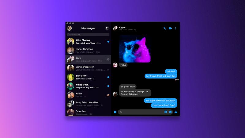 FB Messenger desktop app