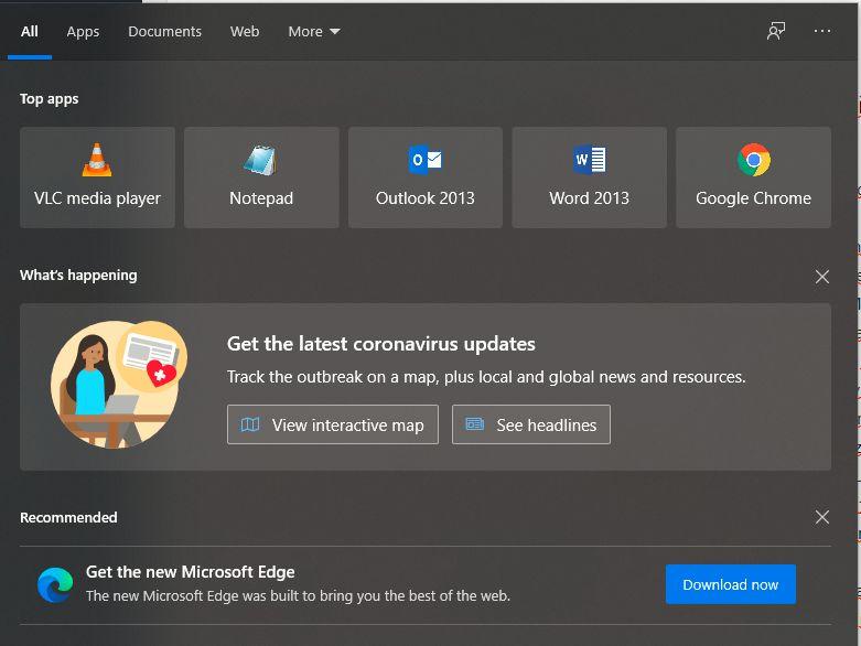 windows 10 korona virus