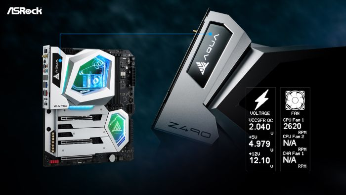 ASRock Launches the Z490 AQUA Flagship Motherboard_OLED