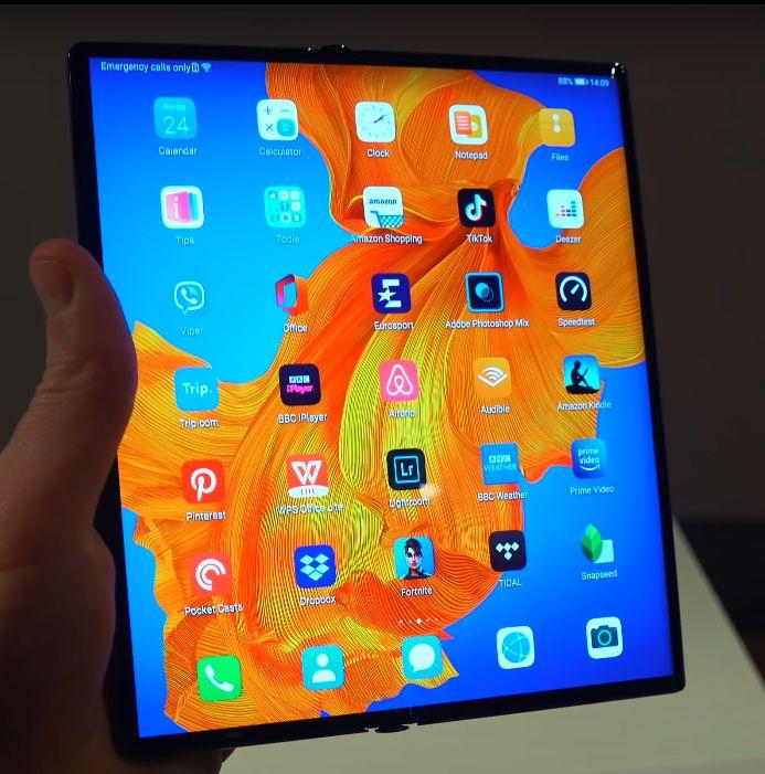 Huawei Mate Xs zaslon