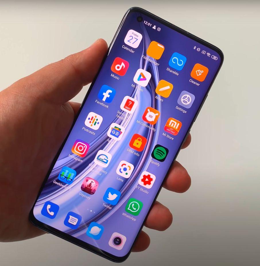 Xiaomi Mi 10 Pro zaslon