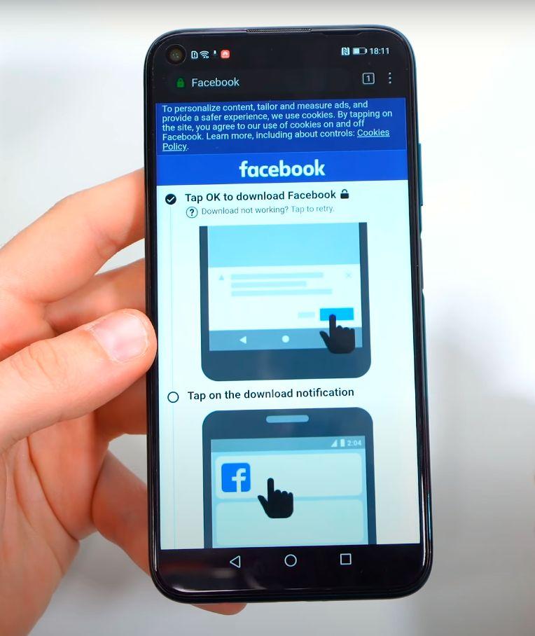 Huawei P40 Lite facebook