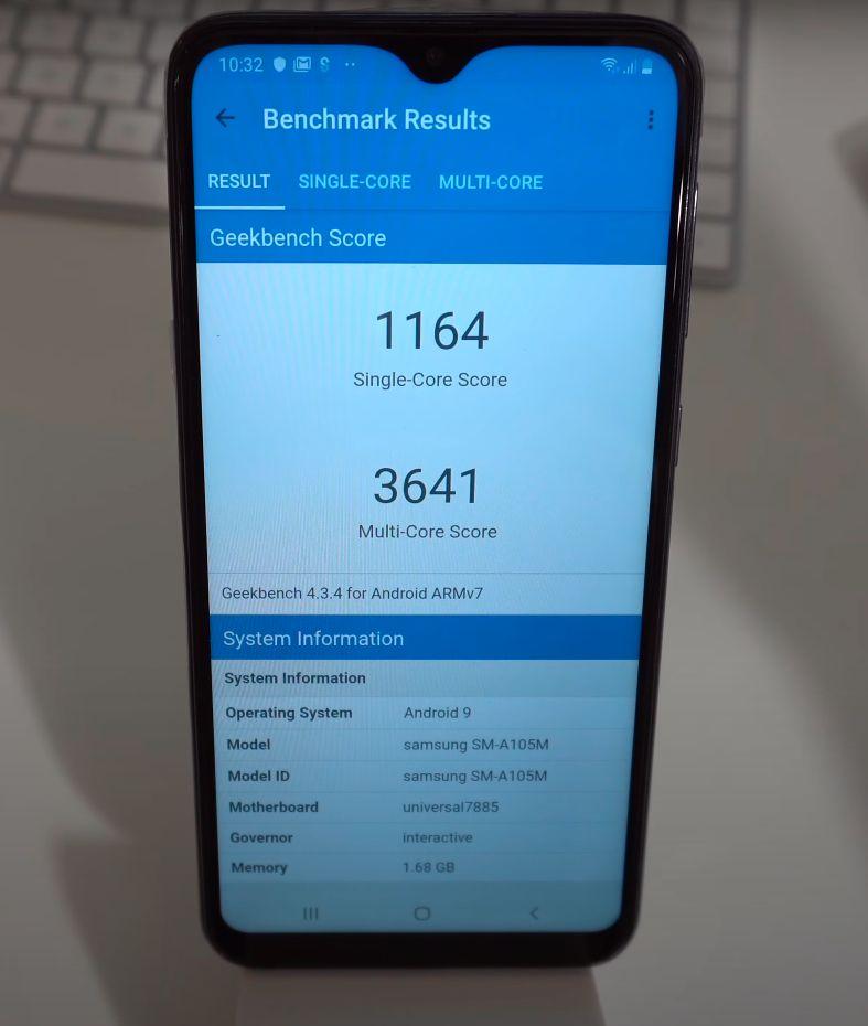 Samsung Galaxy A10 performanse