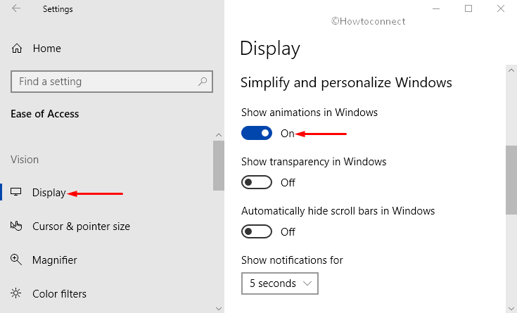 Show Animations in Windows